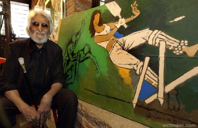 best mf husain painting