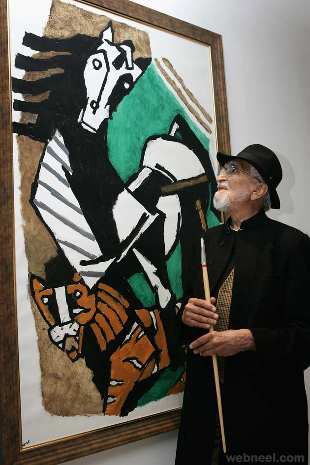 mf husain expensive painting