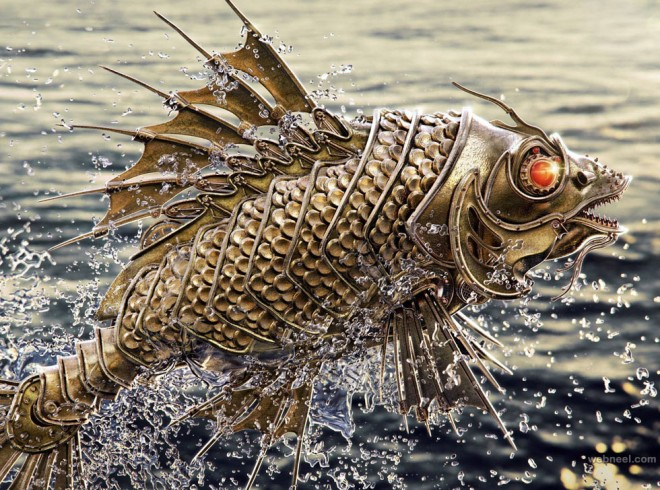 fish robot 3d model by aleksandr kuskov