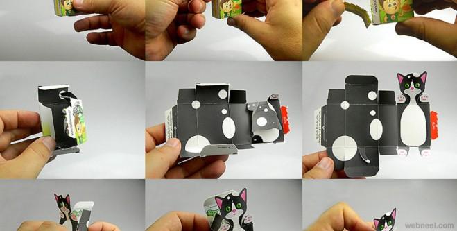 paper design animals packaging design