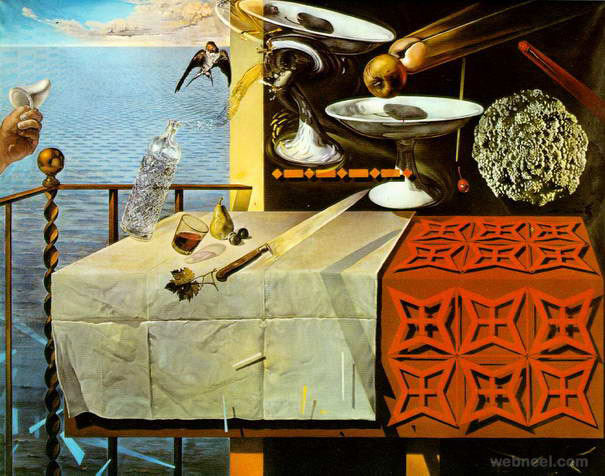 still life moving fast paintings by salvador dali