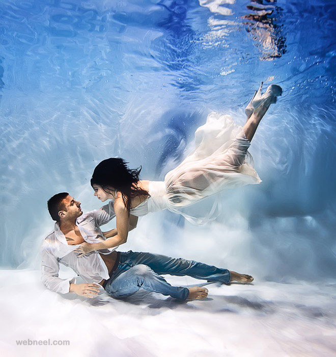 underwater photography love by rafal makiela