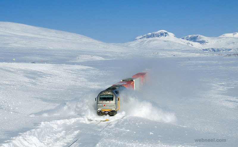 amazing photography train snow