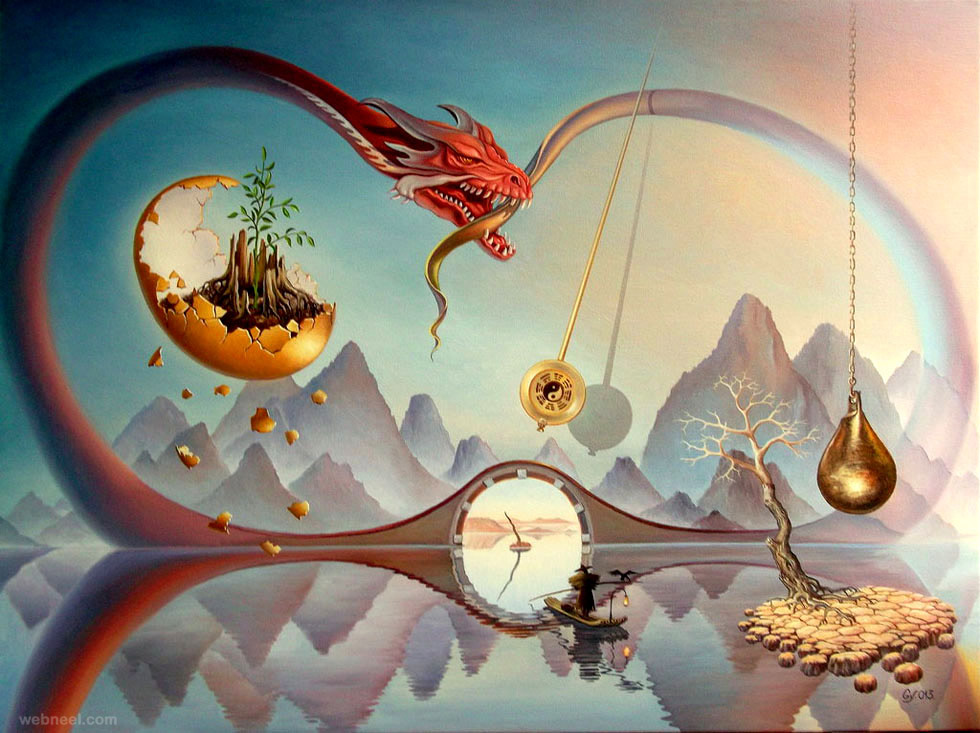 time surreal art