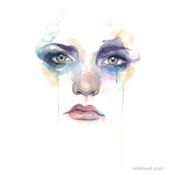 beautiful watercolor painting