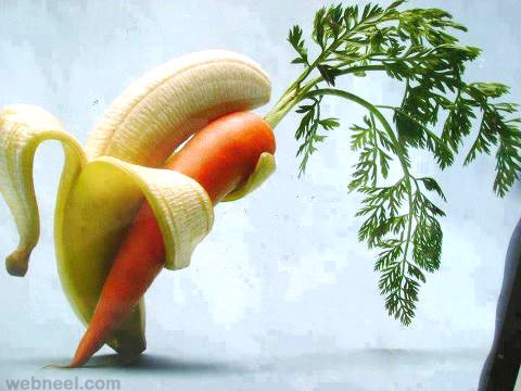 lovers vegetable art idea