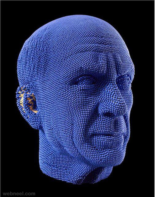 matchstick sculpture head