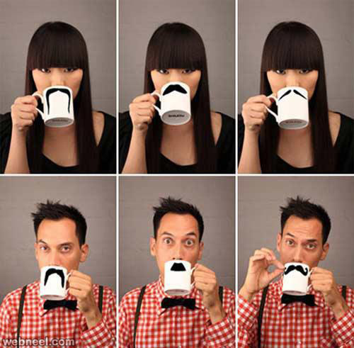 teacup mustache funny