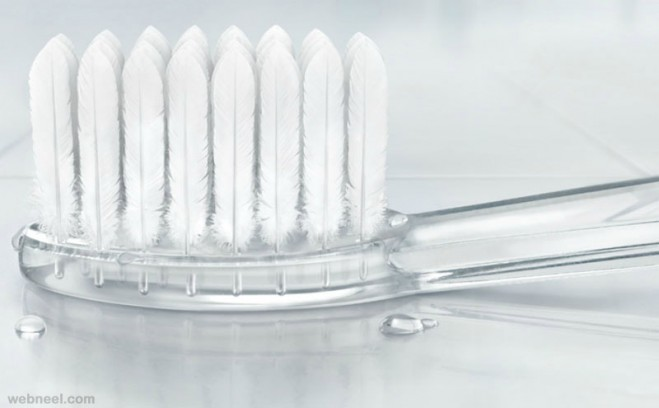 ultra soft tooth brush photo manipulation