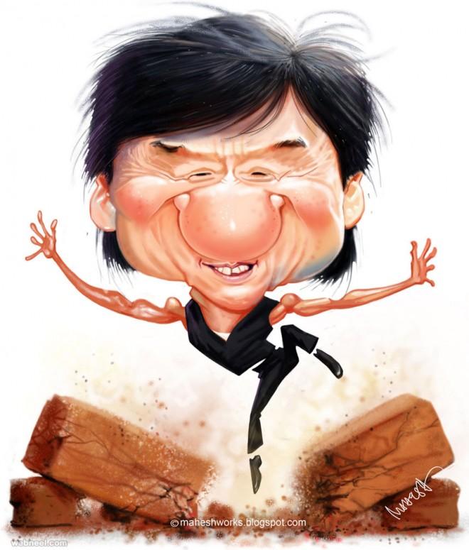 jackiechan caricature by mahesh