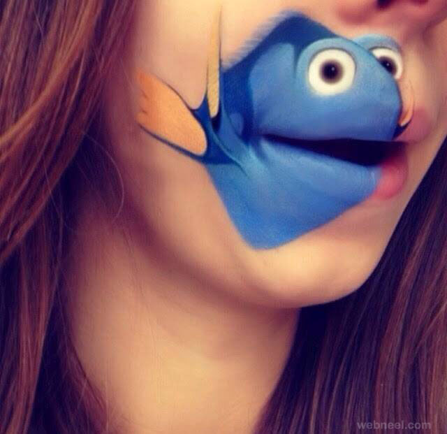 lip art fish