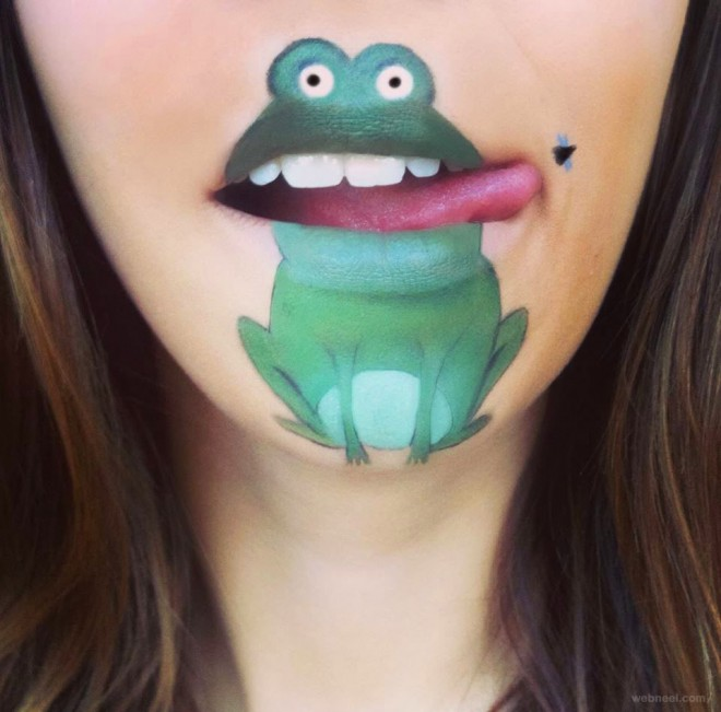lip painting frog