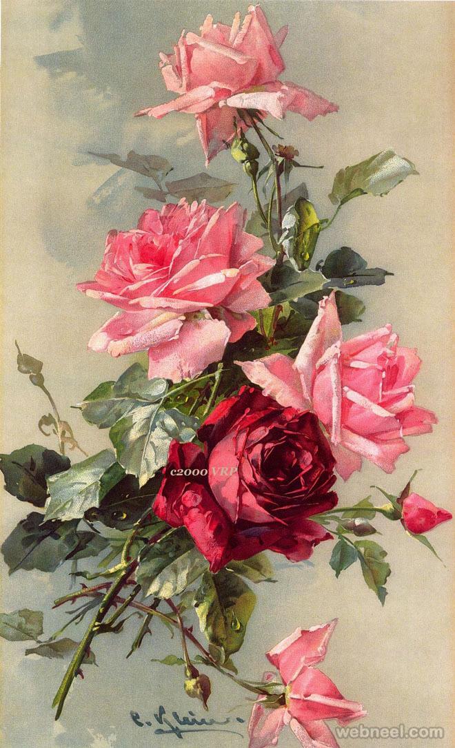 rose painting cklein