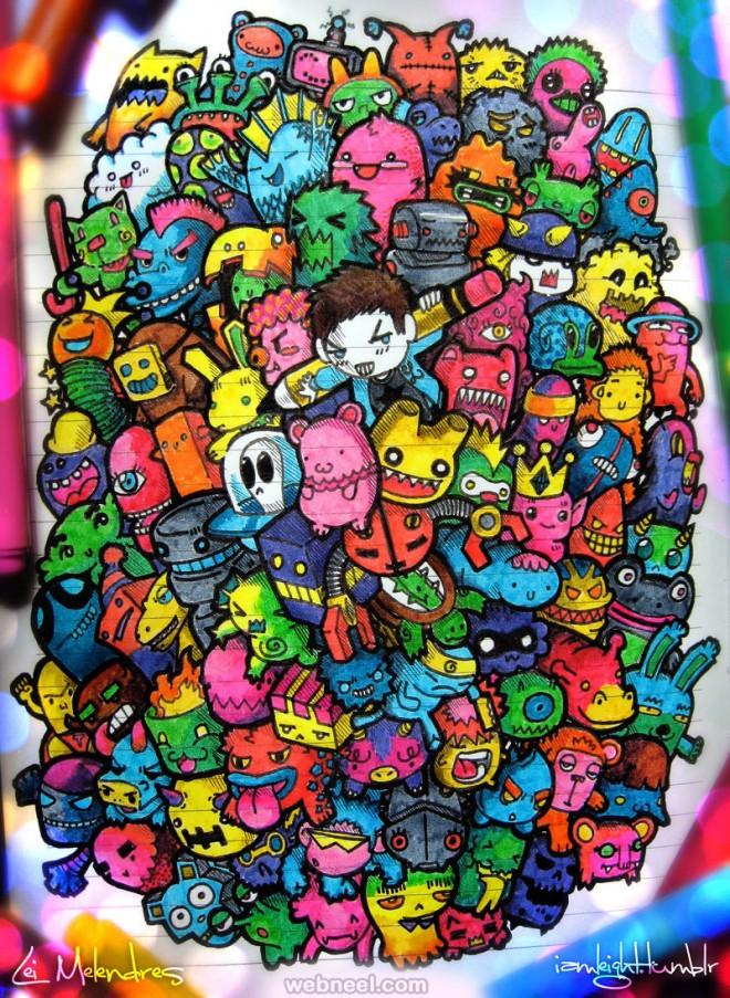 doodle art lei melendres