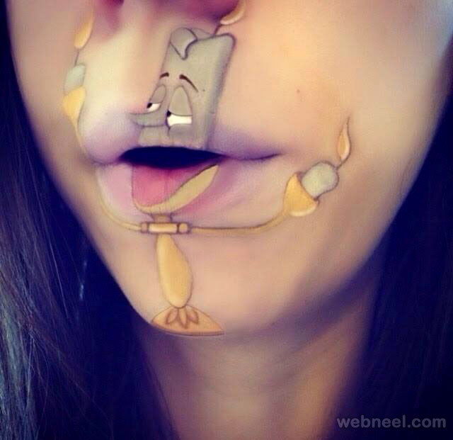 lip painting funny ideas