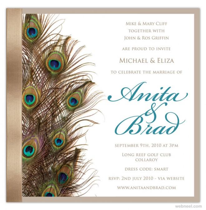 simple beautiful wedding card designs