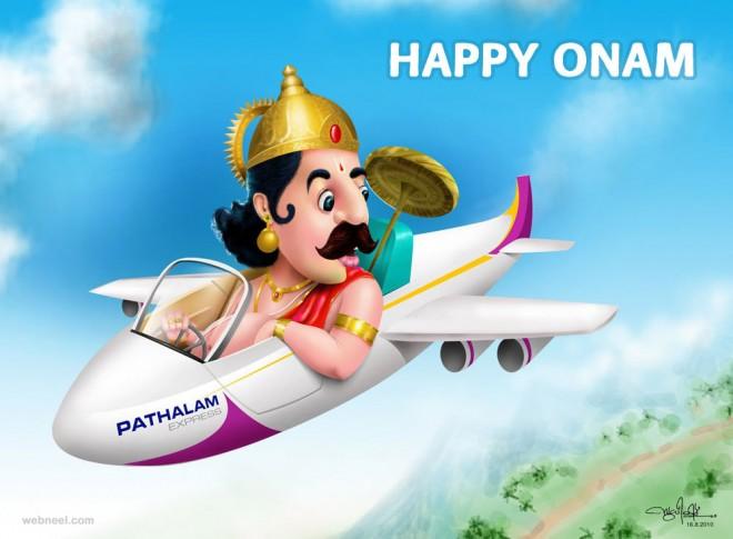 onam wishes greetings mahabali by sudheesh