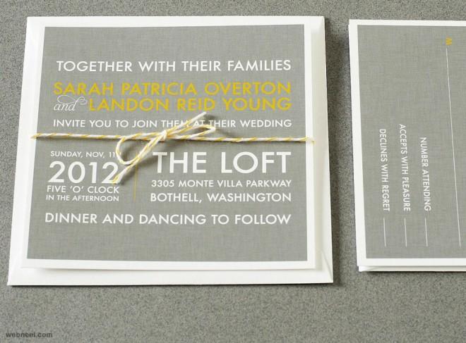 simple wedding card designs