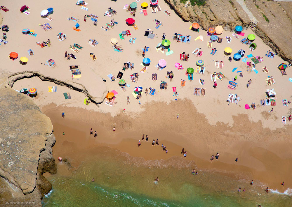 aerial photography beach beautiful