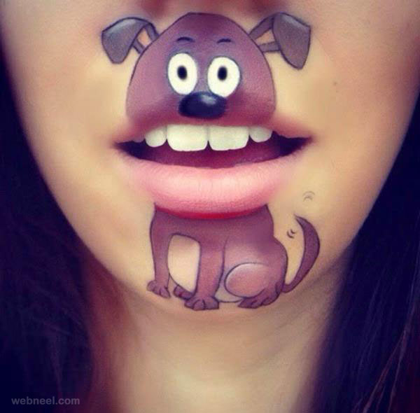 lip art dog