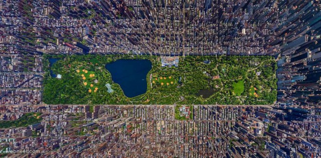 aerial view photography city newyork