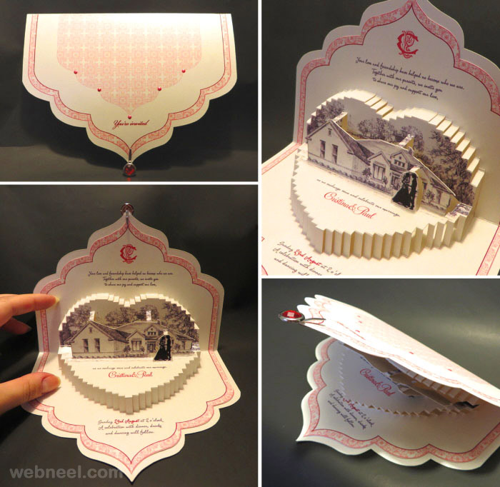 creative wedding card design