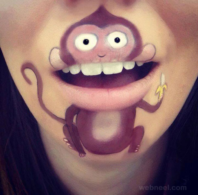 lip art monkey