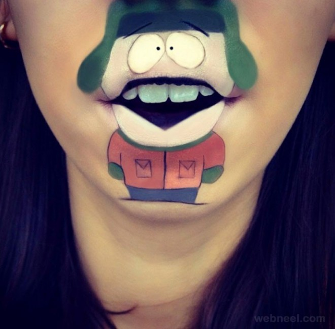 lip art funny by laura