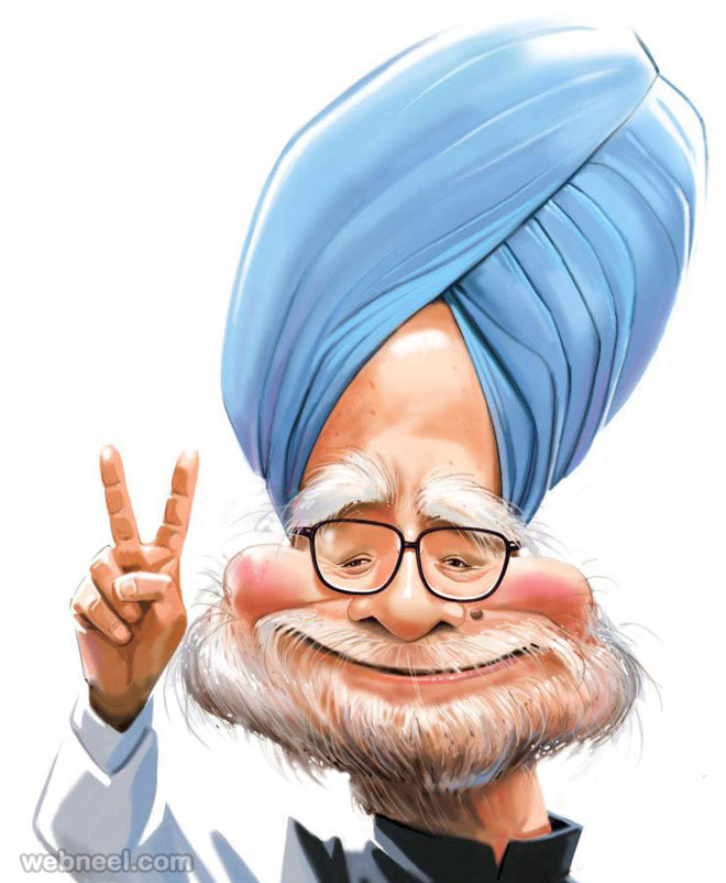 manmohan singh caricature by mahesh