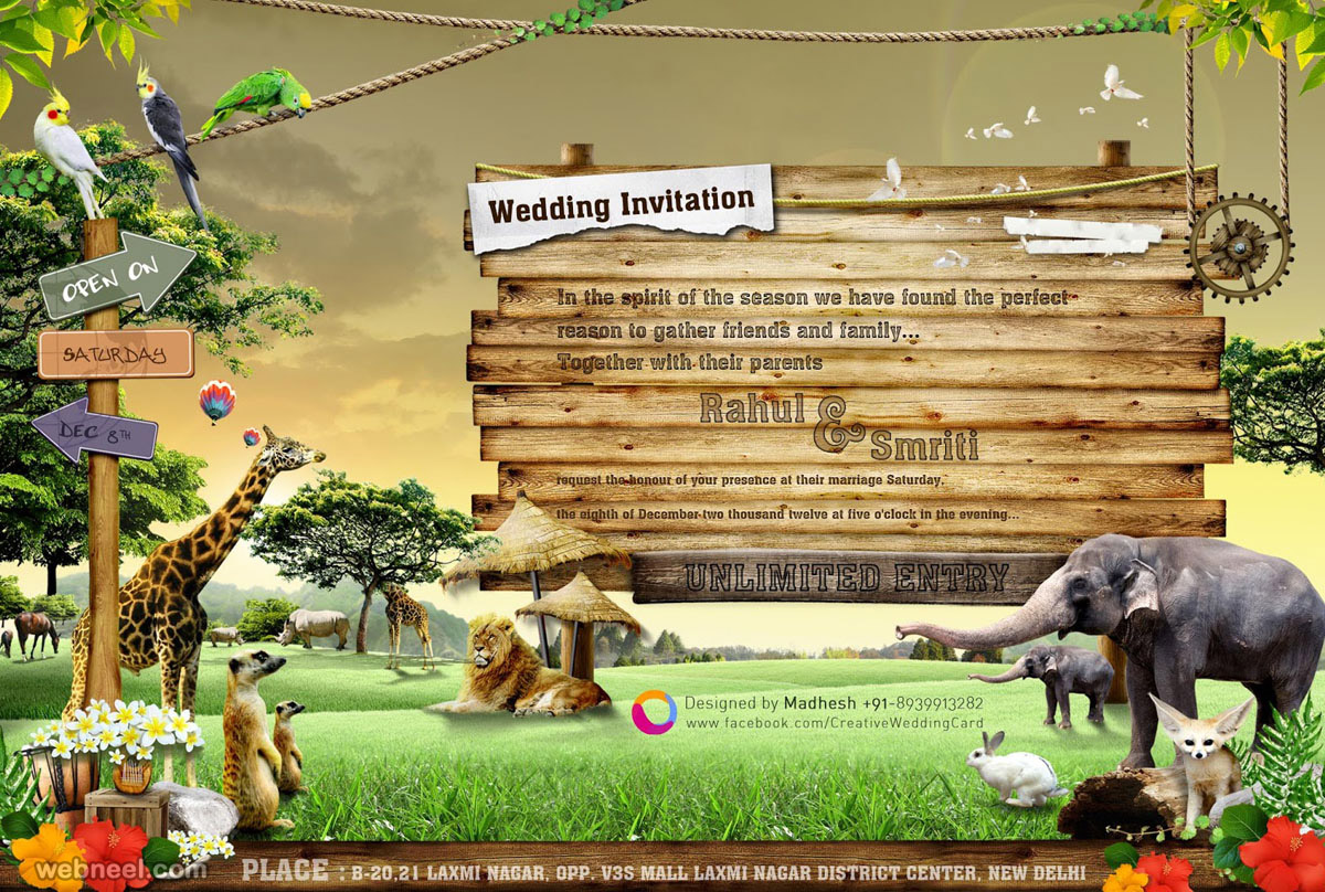 creative wedding invitation designs
