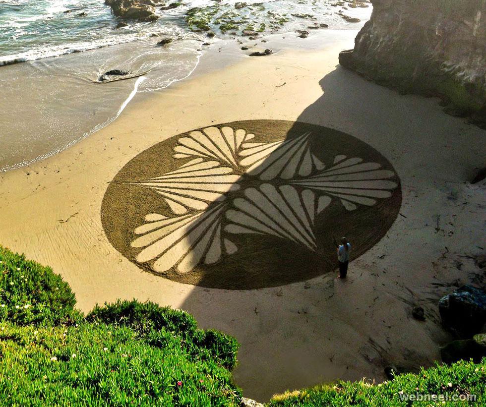 beach art sand