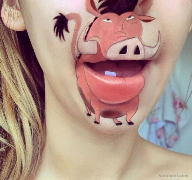 lip art animal