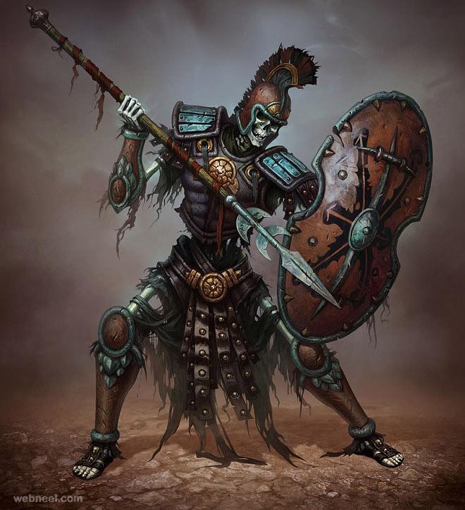 skeleton character design