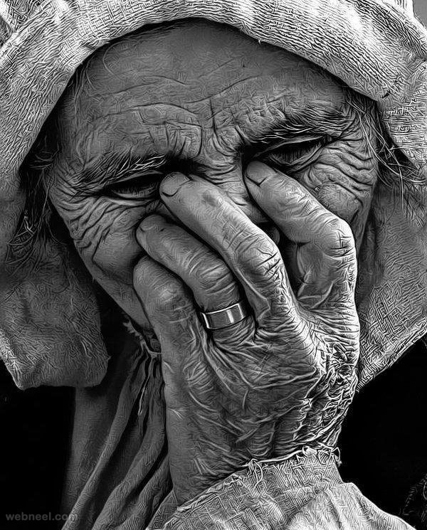 amazing drawing old woman