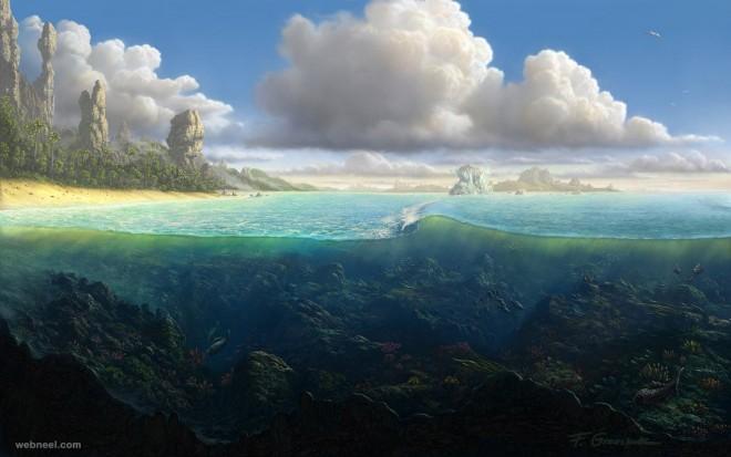 underwater digital art by feliks