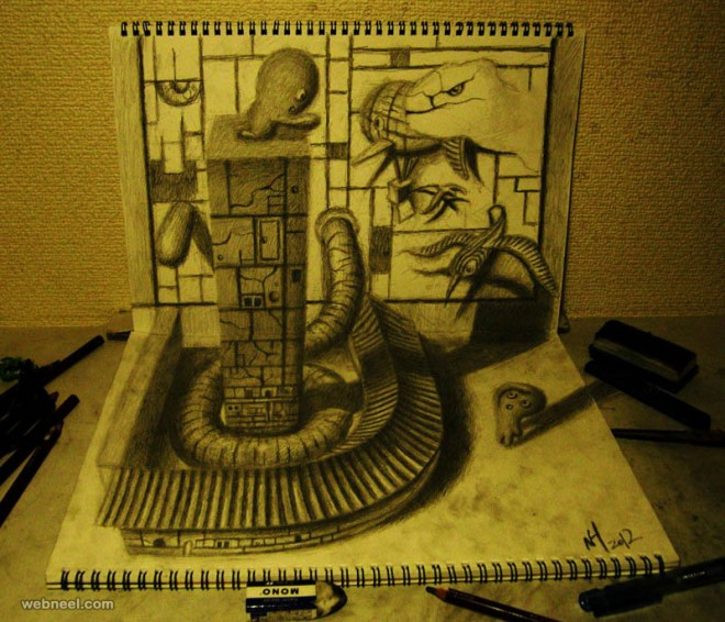 3d drawing by nagai hideyuki