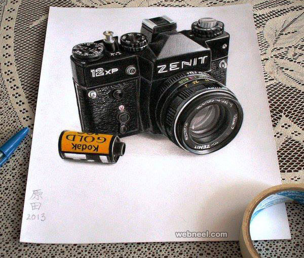 camera 3d drawing by carmen harada
