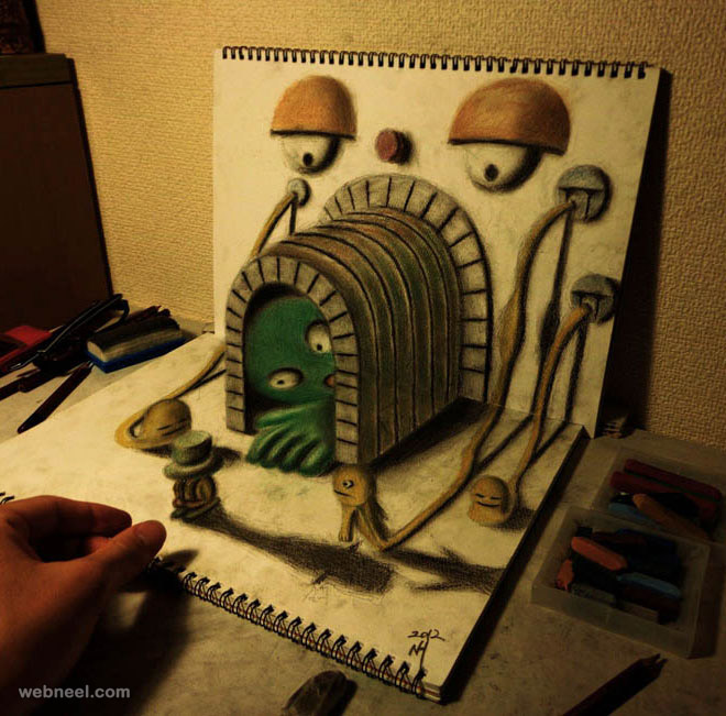 3d art pencil drawing by nagai hideyuki