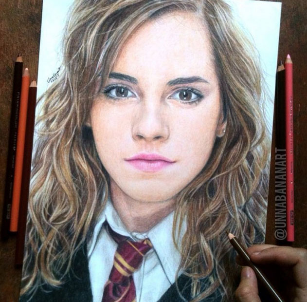 kristen stewart color pencil drawing by unnabananart