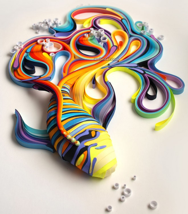 fish quilling art by yulia