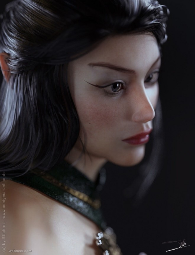 girl daz3d models by elfahret