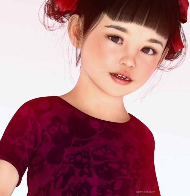 kid queen daz3d models by angelwings