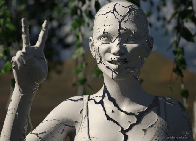 crack sculpture daz3d models by fllamasmtz