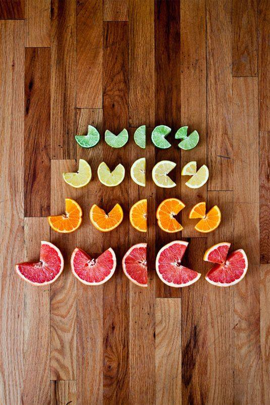 creative fruit typography art