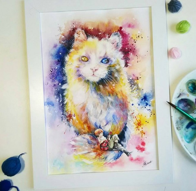 watercolor painting by vishnya obukhova