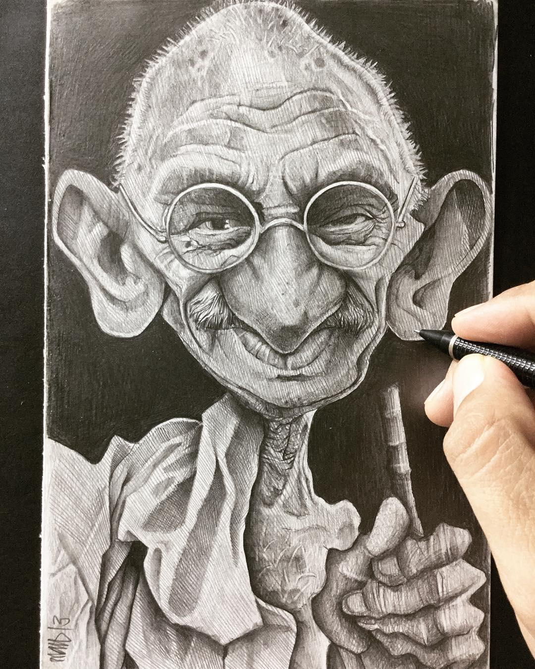 gandhi caricatures by efrain malo