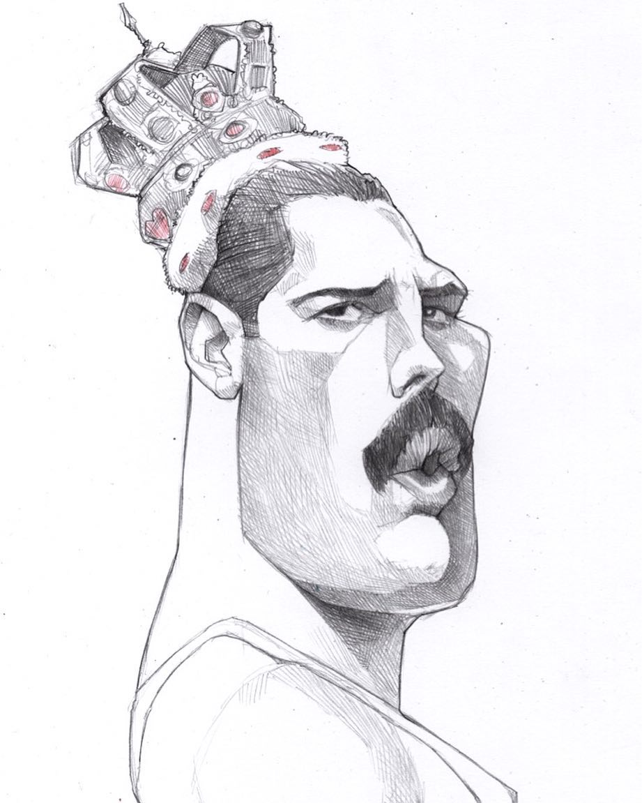 king caricatures by efrain malo