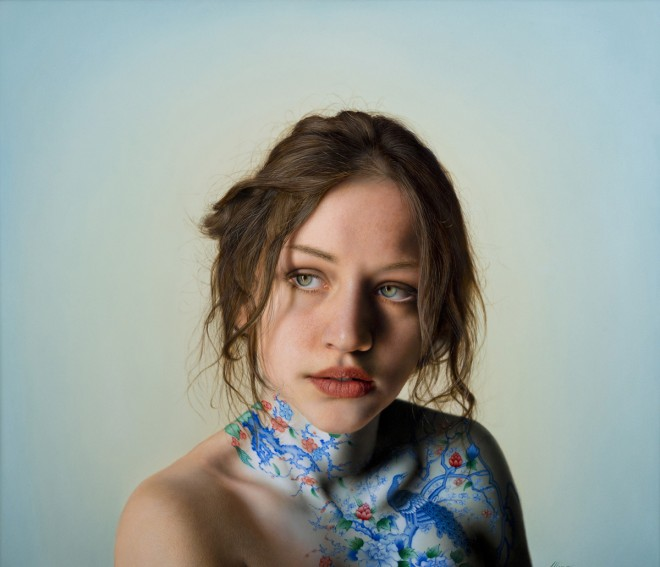 hyper realistic portrait painting by marco grassi