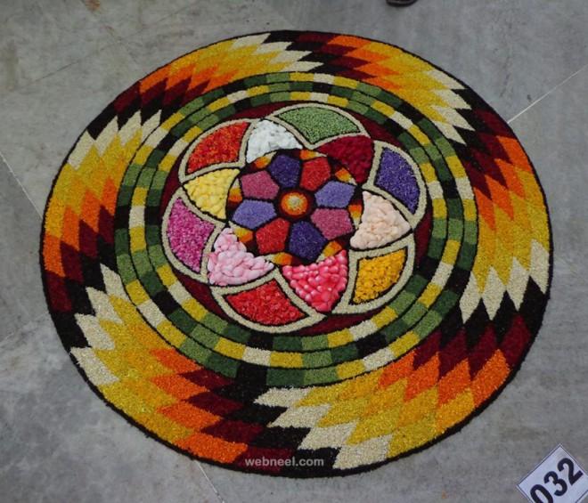 beautiful onam pookalam design