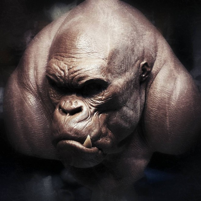 gorilla 3d models by andy bergholtz